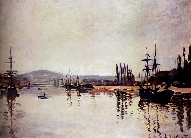 The Seine Below Rouen. Claude Oscar Monet