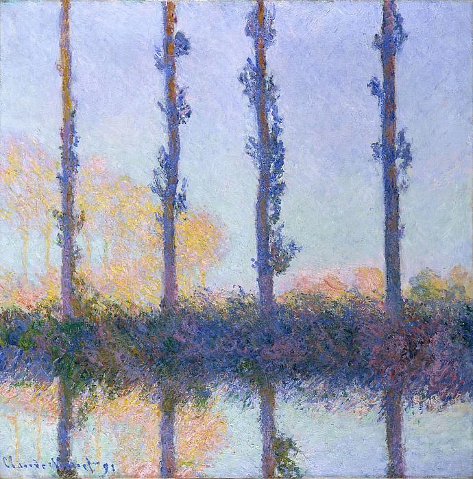 Poplars (Four Trees). Клод Оскар Моне