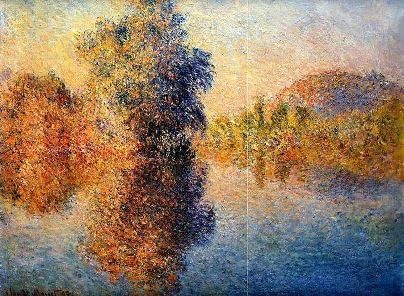 Morning on the Seine. Claude Oscar Monet