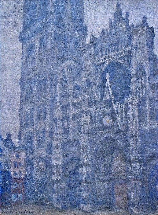Rouen Cathedral, the Portal, Grey Weather. Claude Oscar Monet