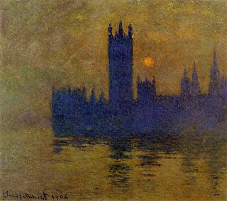 Houses of Parliament, Sunset 02. Claude Oscar Monet