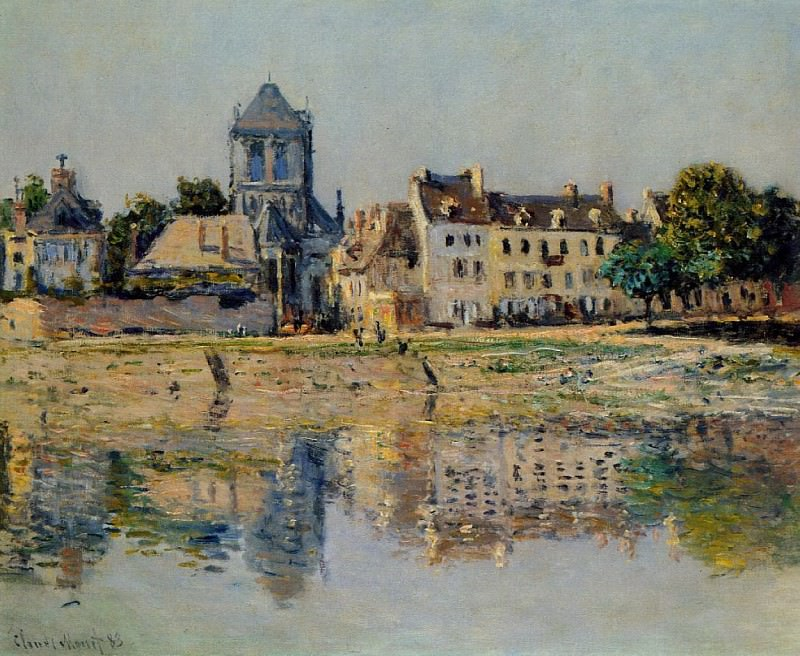 By the River at Vernon. Claude Oscar Monet