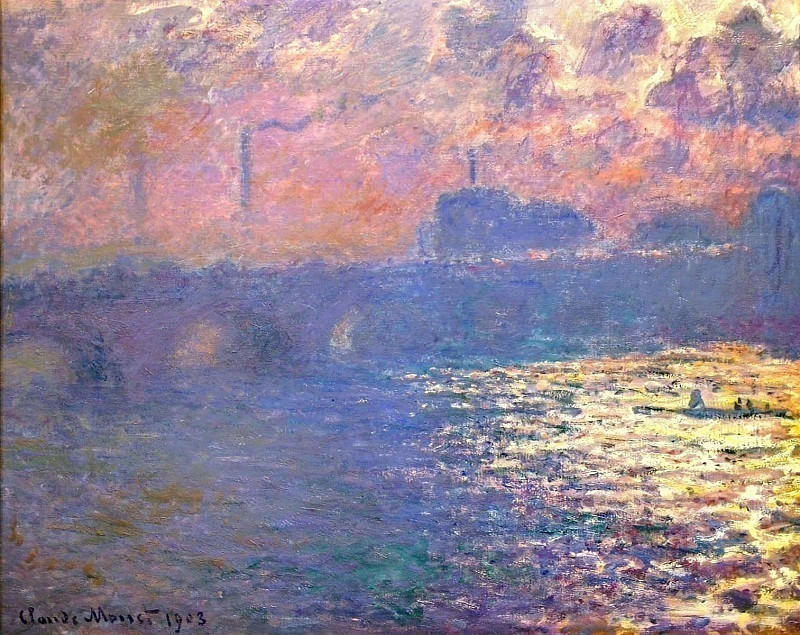 Waterloo Bridge, Sunlight Effect. Claude Oscar Monet