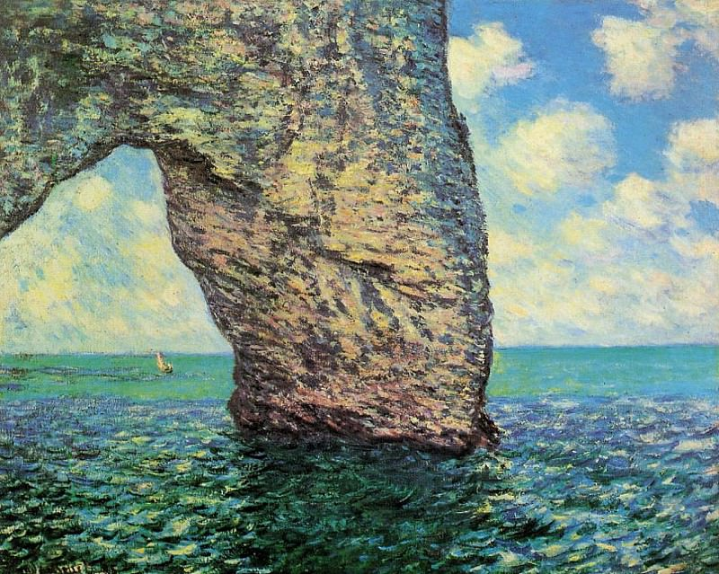 The Manneport at High Tide. Claude Oscar Monet