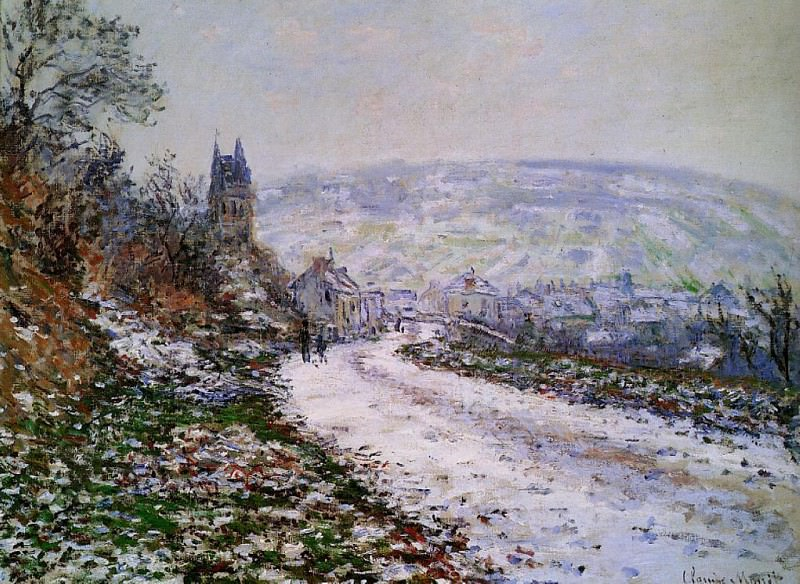 Entering the Village of Vetheuil in Winter. Claude Oscar Monet