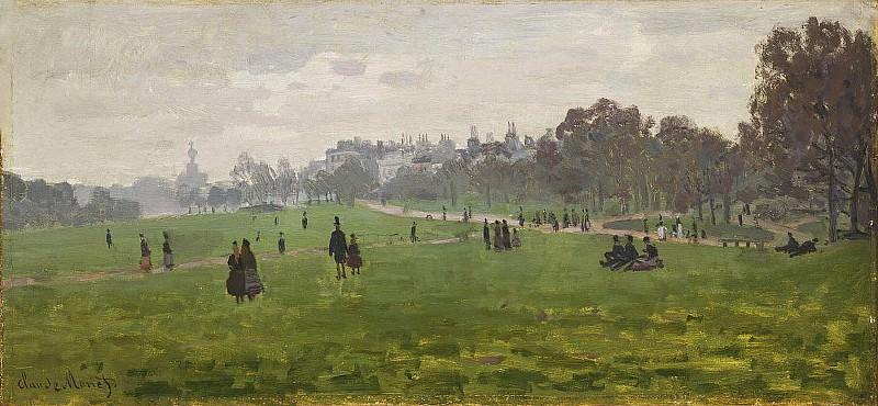 Green Park in London. Claude Oscar Monet