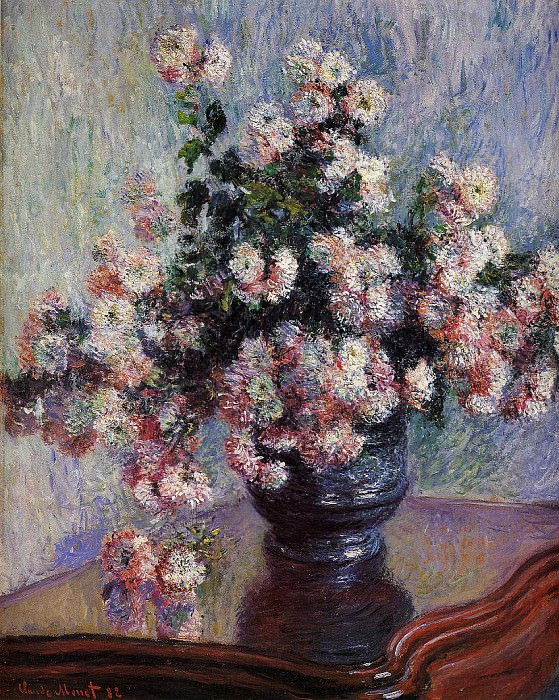 Chrysanthemums. Claude Oscar Monet