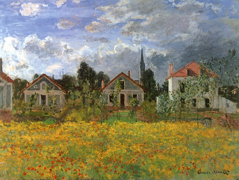 Houses at Argenteuil. JPG. Claude Oscar Monet