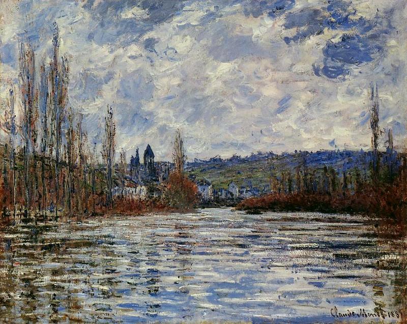Flood of the Seine at Vetheuil. Claude Oscar Monet