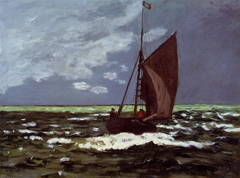 Stormy Seascape. Claude Oscar Monet
