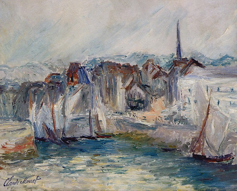 Boats in the Port of Honfleur. Claude Oscar Monet