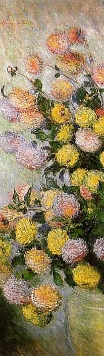 Vase of Dahlias. Claude Oscar Monet