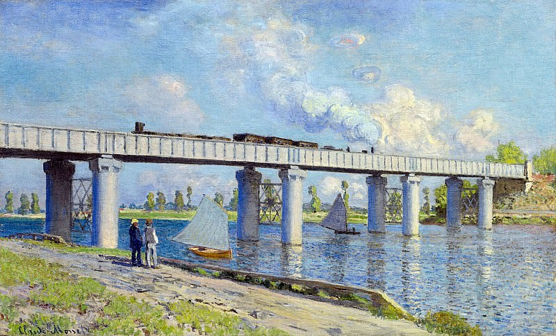 The Railroad Bridge at Argenteuil. Claude Oscar Monet