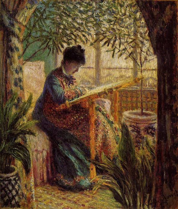 Camille Embroidering. Claude Oscar Monet