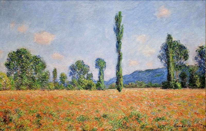 Poppy Field in Giverny 02. Claude Oscar Monet