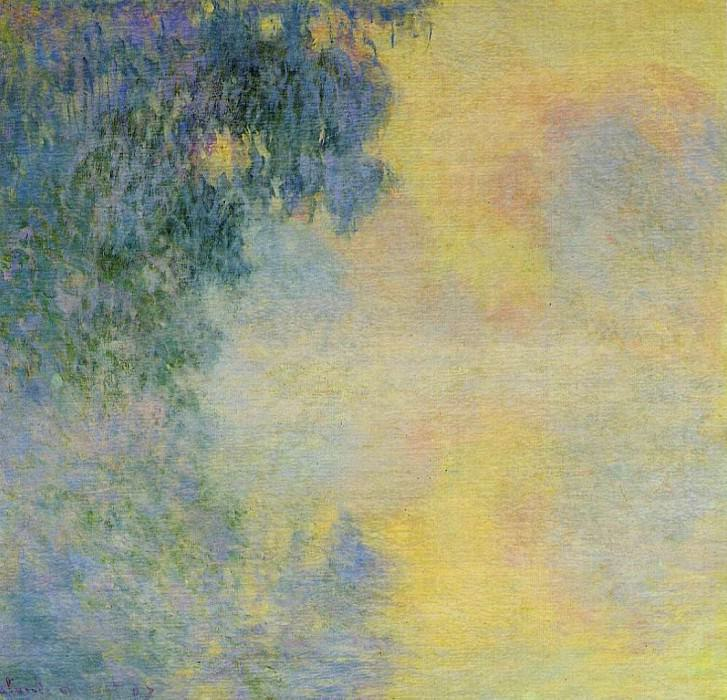 Misty Morning on the Seine, Sunrise. Claude Oscar Monet