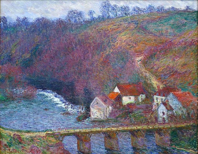 The Grande Creuse by the Bridge at Vervy. Claude Oscar Monet
