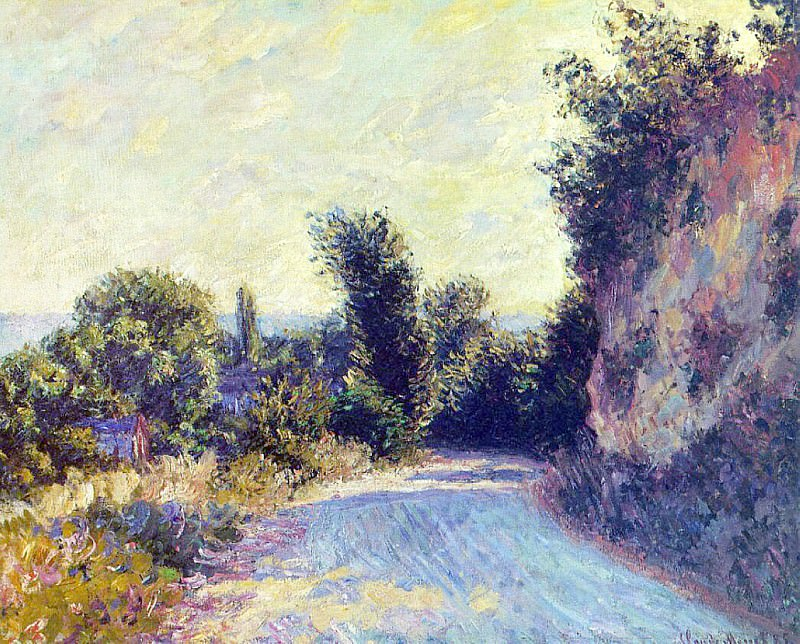 Road near Giverny 02. Claude Oscar Monet