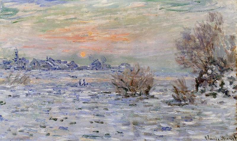 Winter on the Seine, Lavacourt. Claude Oscar Monet