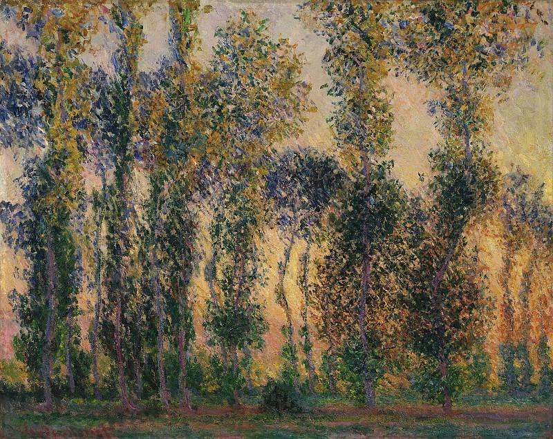 Poplars at Giverny. Claude Oscar Monet