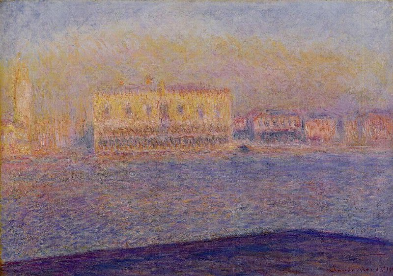 The Doges' Palace Seen from San Giorgio Maggiore, Venice. Claude Oscar Monet