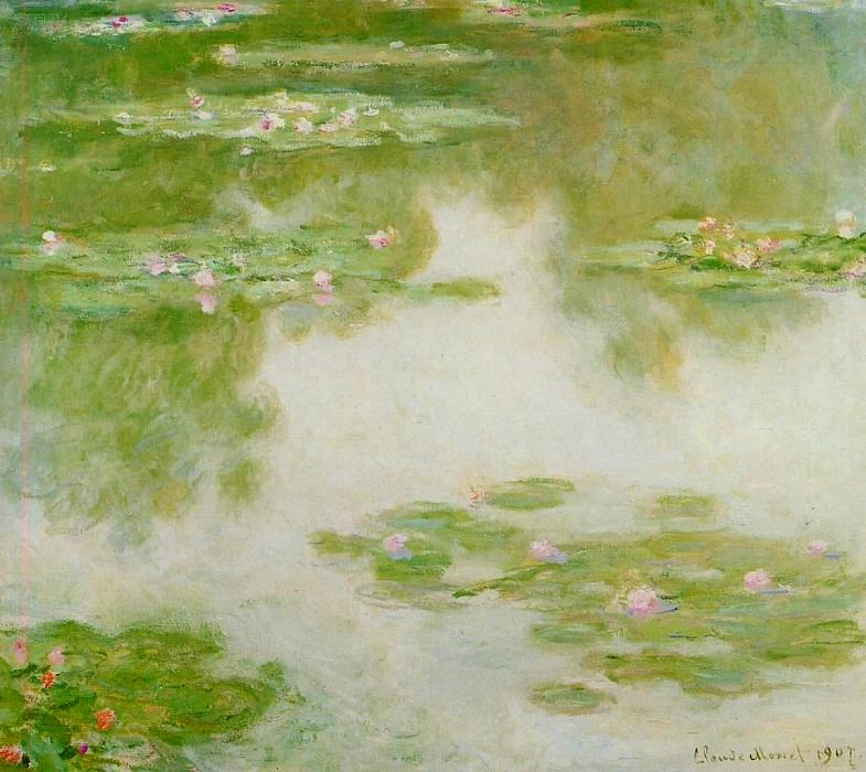 Water Lilies, 1907 15. Claude Oscar Monet
