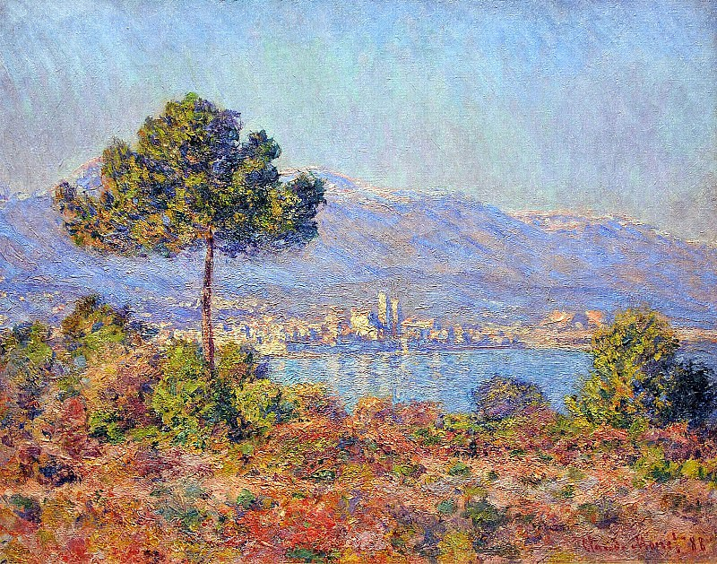 View of Antibes from the Notre-Dame Plateau. Claude Oscar Monet
