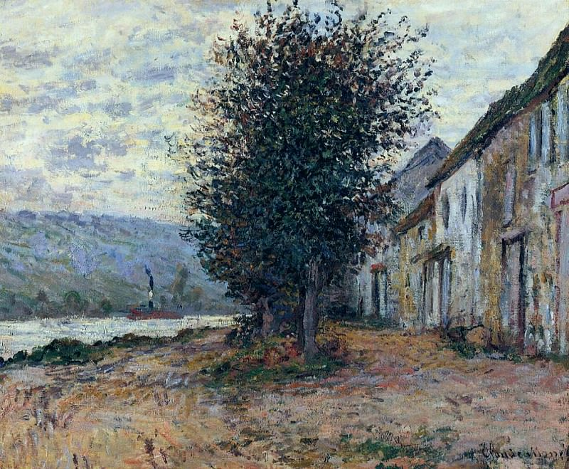 The Banks of the Seine at. Claude Oscar Monet
