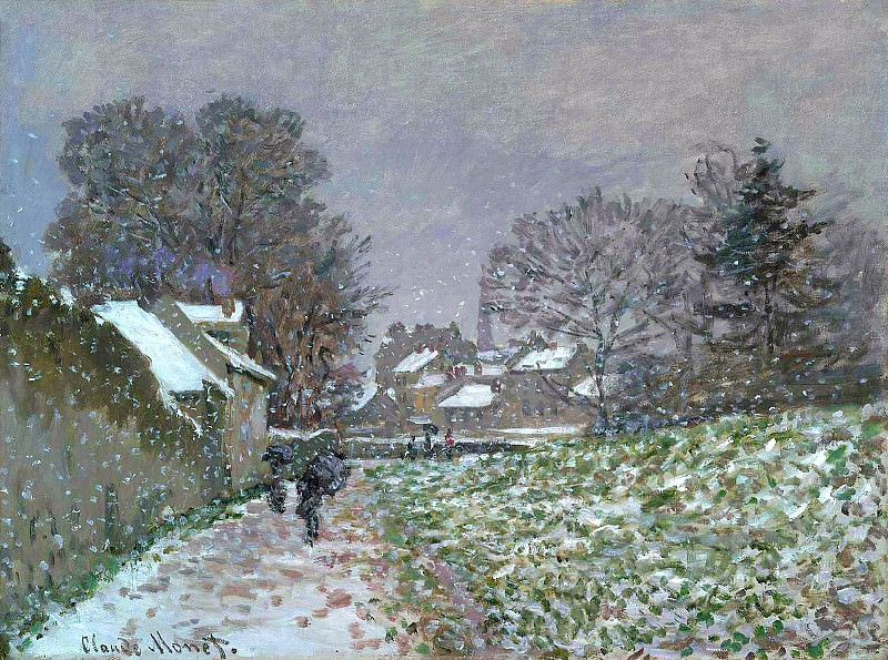 Snow at Argenteuil 02. Claude Oscar Monet