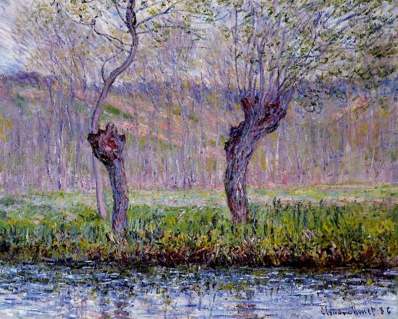 Willows in Springtime. Claude Oscar Monet