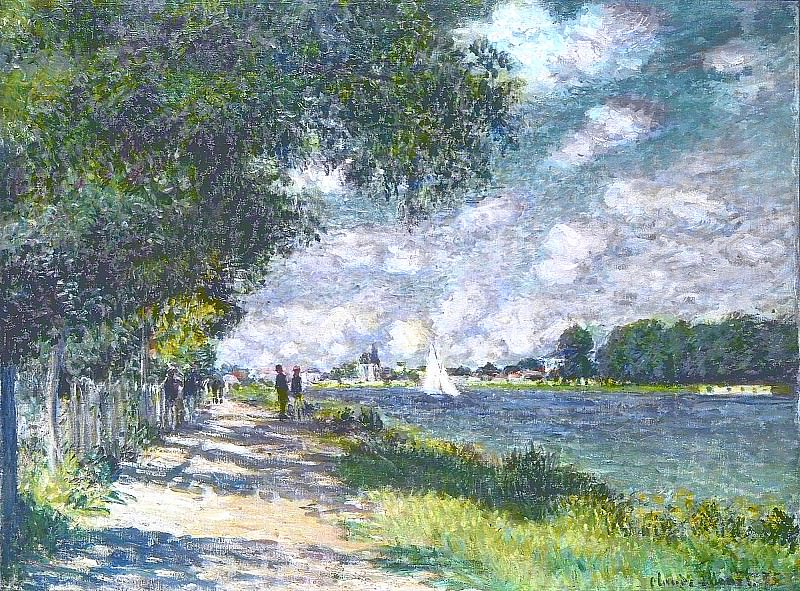 The Seine at Argenteuil. Claude Oscar Monet