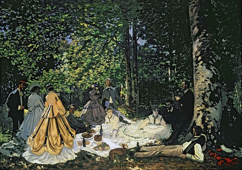 Luncheon on the Grass. Claude Oscar Monet