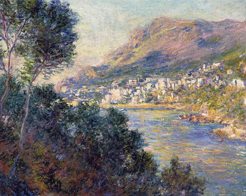 Monte Carlo Seen from Roquebrune. Claude Oscar Monet
