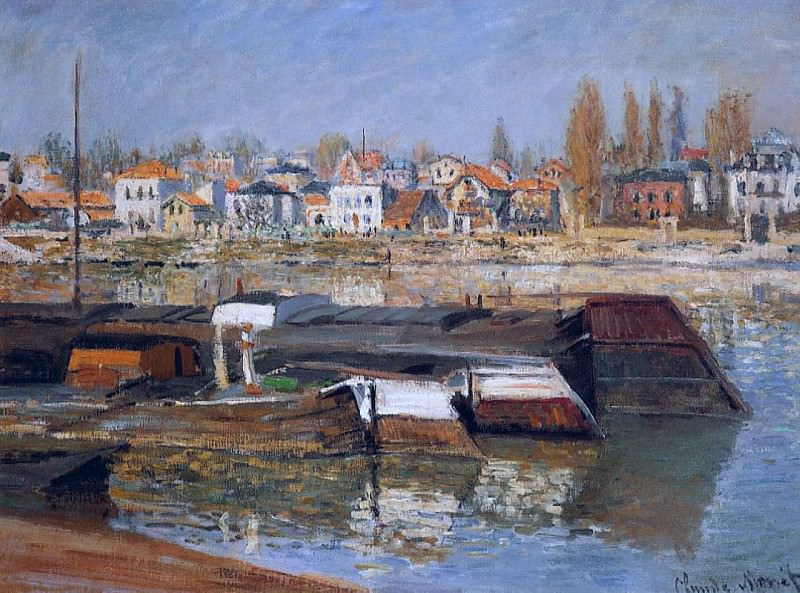 The Seine at Asnieres 01. Claude Oscar Monet