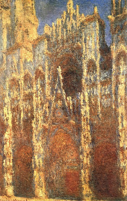 Rouen Cathedral, the Portal. Claude Oscar Monet