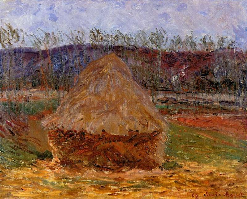 Grainstack at Giverny. Claude Oscar Monet