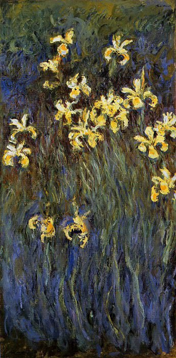 Yellow Irises 2. Claude Oscar Monet