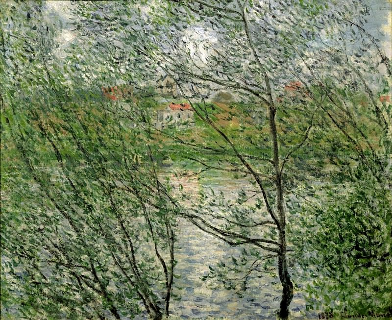 The Isle Grande-Jatte on the Siene. Claude Oscar Monet