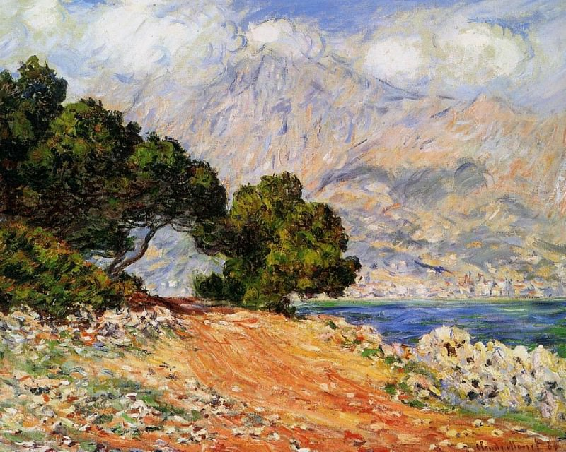 Meton Seen from Cap Martin. Claude Oscar Monet
