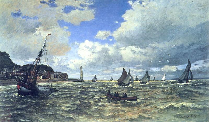 The Seine Estuary at Honfluer. Claude Oscar Monet