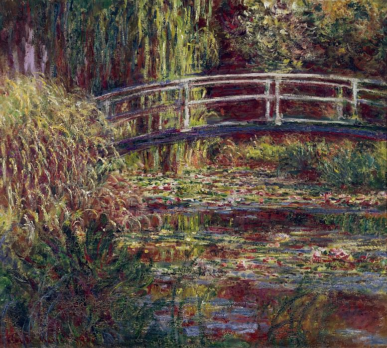The Japanese Bridge (The Water-Lily Pond, Symphony in Rose). Claude Oscar Monet
