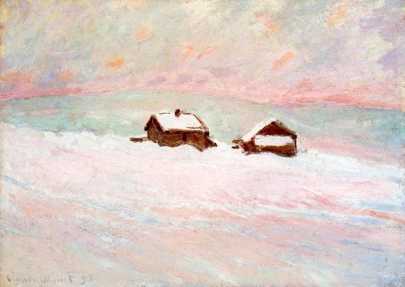 Houses in the Snow, Norway. Claude Oscar Monet