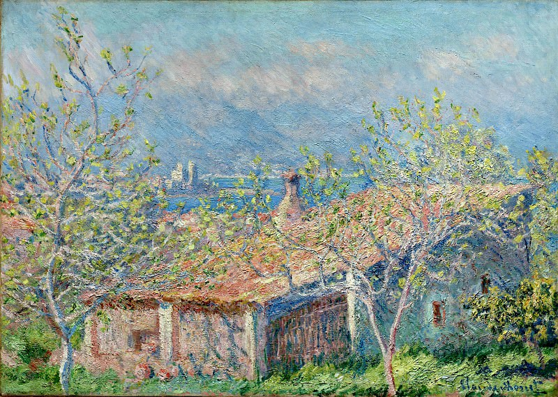 Gardener's House at Antibes. Claude Oscar Monet