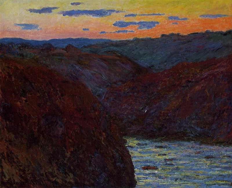 Valley of the Creuse, Sunset 2. Claude Oscar Monet