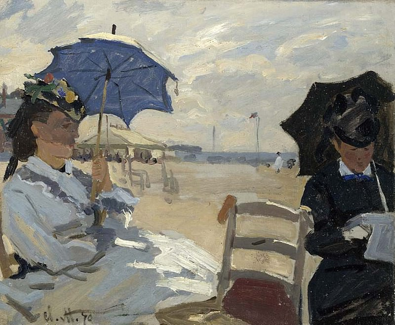 The Beach at Trouville. Клод Оскар Моне