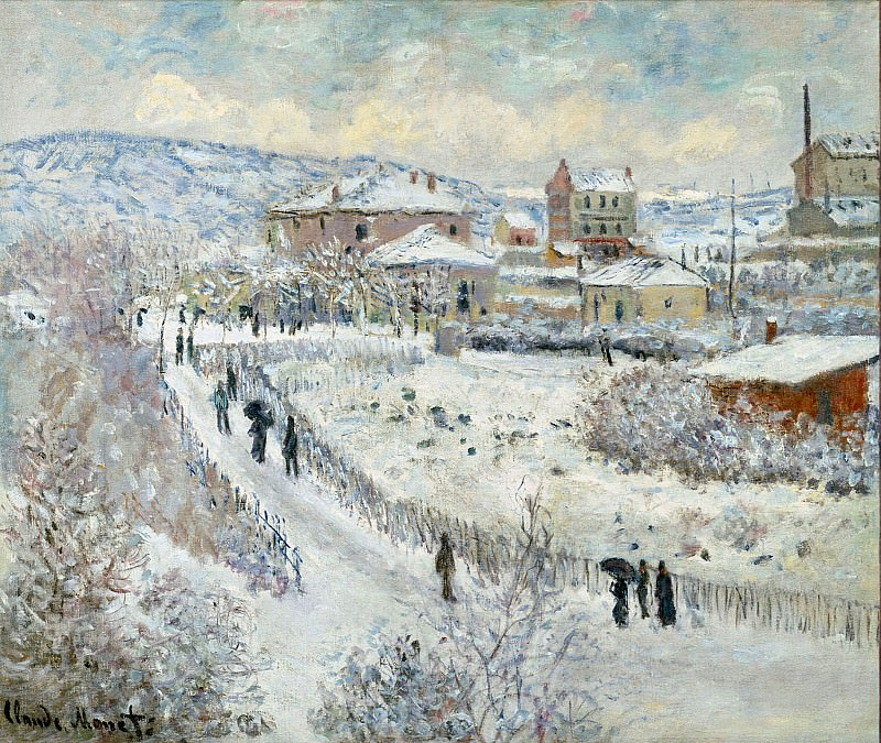 View of Argenteuil in the Snow. Claude Oscar Monet
