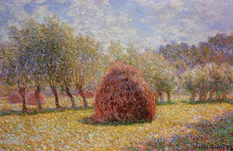 Haystacks at Giverny. Claude Oscar Monet