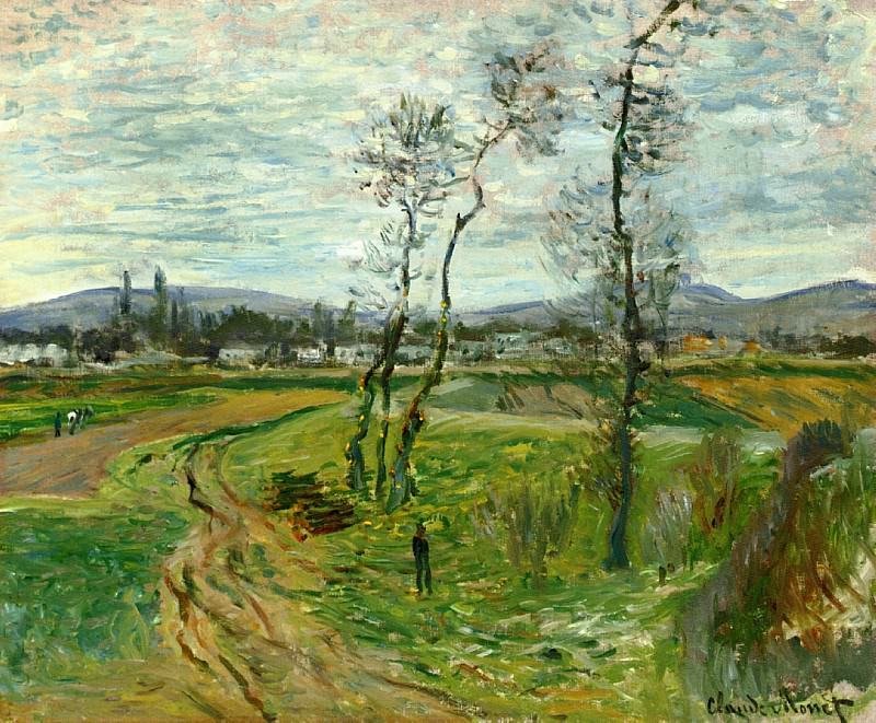 Field at Gennevilliers. Claude Oscar Monet