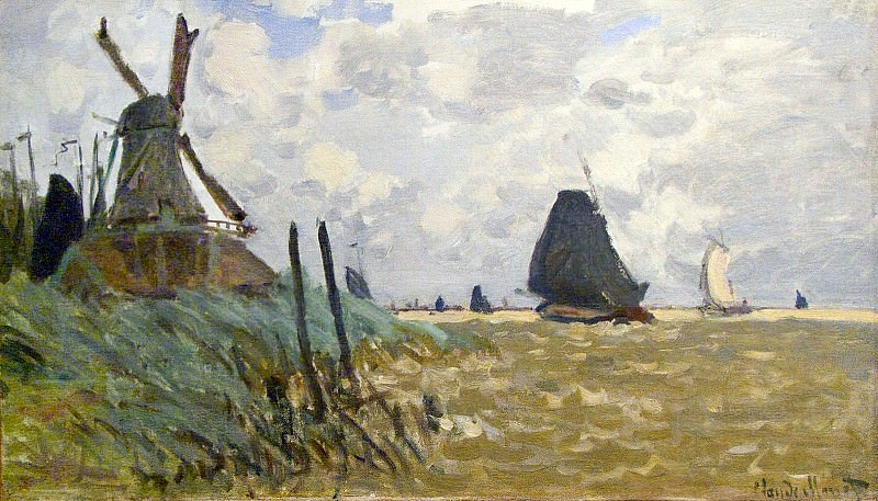Windmill near Zaandam. Claude Oscar Monet