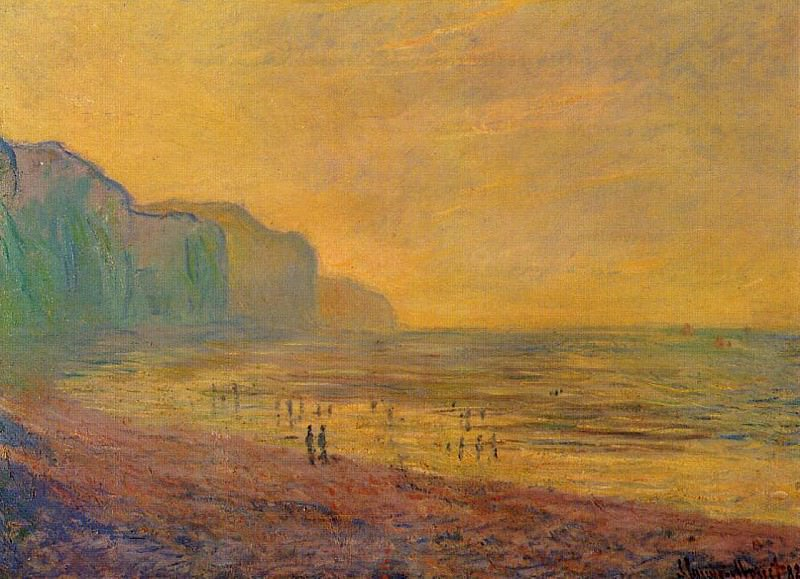 Low Tide at Pourville, Misty Weather. Claude Oscar Monet